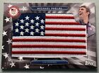 MICHAEL PHELPS 2016 Topps Olympics USA Flag Patch Swimming #USAF-MP 20/99 SSP