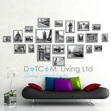Multi Picture Photo Frames Wall Set 23pcs 176cm X 80cm Art Deco Home Gift Silver