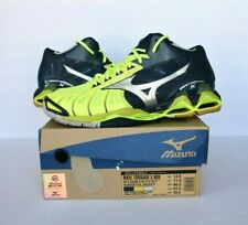 Mizuno Wave Tornado X Mid Blue Green Volleyball Shoe Mens Size 12.5 430210.3Q51