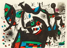 Joan Miro La Melodie Acide Galerie Lucie well Giclee Canvas Print Paintings