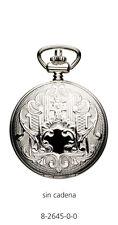 Reloj bolsillo plata con tapa, maquina de quarzo