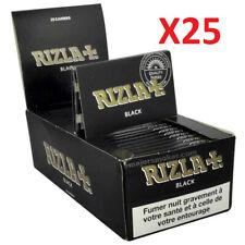 LOT Rizla courte double BLACK 25 carnets de 100 petites feuilles à rouler NEUF
