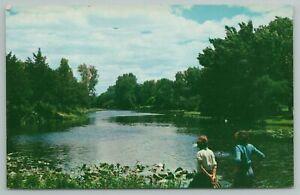 Dallas Texas~View Along Turtle Creek Spring Fed Stream~Vintage Postcard