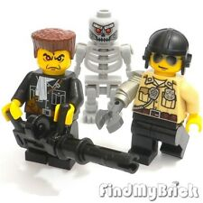 M204 Lego Custom Terminator Custom Minifigures - ( 3 Minifigures ) - NEW