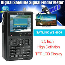 "Satlink WS-6906 Satellite Signal Finder Meter Receiver 3.5"" DVB-S LCD for TV AV"