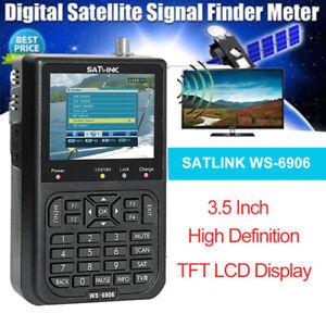 """Satlink WS-6906 Satellite Signal Finder Meter Receiver 3.5"""" DVB-S LCD for TV AV"""