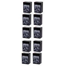 UPG 10 Pack - 6V 4.5AH SLA Battery replaces cp0660 gp645 lcr6v4p hk-3fm4.5 wp4-6