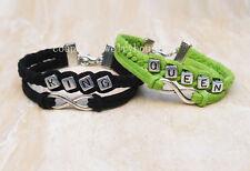 Infinity Couples Bracelet  King Queen Bracelet  Boyfriend girlfriend jewelry