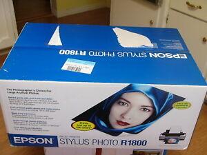 NEW Epson Stylus Photo R1800 Inkjet Printer (C11C589011)