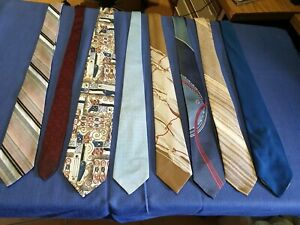 Vintage Men's Neck Ties - 8 in Total - John & Lois - Ensign - Verdi - L5