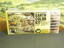 Woodland Scenics No. C1215 EARTH COLOR KIT LIQUID PIGMENTS 8-COLORS New in Box