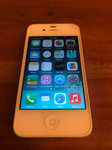 White Apple iPhone 4 GSM 32GB A1332 AT&T Cracked Glass