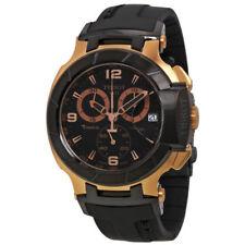 Relojes de pulsera de acero inoxidable de goma Cronógrafo