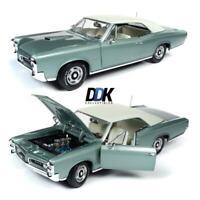 AUTOWORLD AMM1192 1966 PONTIAC GTO PALMETTO GREEN DIECAST MODEL CAR 1:18