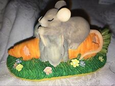 """Charming Tails """"After Lunch Snooze"""" Signed Dean Griff Silvestri Bunny"""