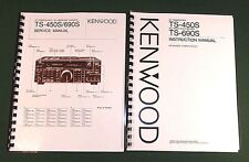 Kenwood TS-450S Instruction & Service Manuals: Card Stock Covers & 32 LB Paper!