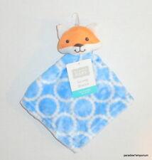New Hudson Baby FOX Security Blanket Blue Orange Style #50589 Nunu P52