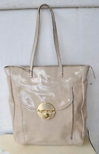 MIMCO Rare XL Beige Patent Leather Turnlock Tote Bag Sold Out! Premium Release