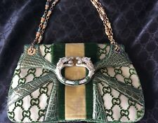 COLLECTOR'S GUCCI TOM FORD DRAGON PEARL VELVET CROCODILE BAG