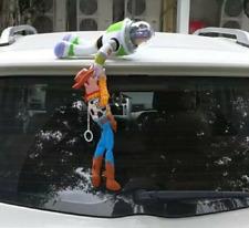 2PC Toy Story 4 Sherif Woody + Buzz Lightyear Car Plush Doll Hanging Xmas Gift