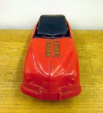 FIRE CHIEF vtg toy car Marx beat-up emergency vehicle 1940s friction 10""