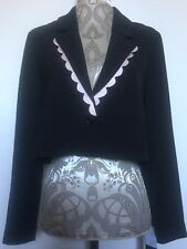BNWT Ladies Black Cropped Suit Jacket Size M