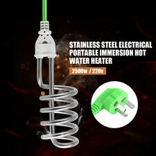 New Water Heater Portable Electric 220V-2500W Immersion Element Boiler Travel WD