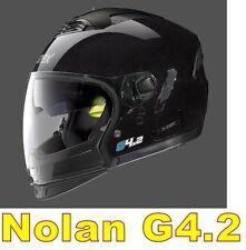 """CASCO NOLAN GREX G4.2 N-COM  EX N43E AIR NERO LUCIDO COL.1 Tg. """"XL"""" BLACK"""