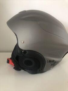 Trespass Skyhigh Ski Helmet for Women Men in White Black & Brown