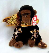 Ty Beanie Gorilla Congo Handpainted w/ 4 Monkeys