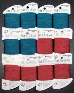 12x Needlepoint/Embroidery THREAD RAINBOW GALLERY Silk & Cream silk/wool-RG113