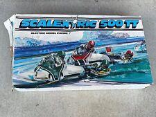 Vintage Scalextric 500TT Set Incomplete Lots of Track Circa 1980-81 Euro Plug