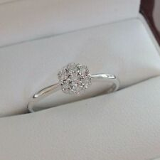 Stackable White Gold Fine Diamond Rings