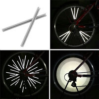 12pcs Bicycle Wheel Spoke Reflector Reflective Mount Clip Tube Warning Strip JX
