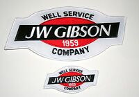 2 JW Gibson Oil Gas Well Service Drilling Exploration Patch New NOS 1980s Large