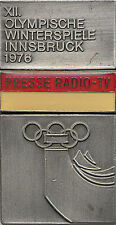 Olympic Games 1976. Participation pin badge Innsbruck Olympia 1976 Abzeichen
