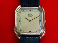 UNISEX  SEIKO  CREDOR  14K SOLID GOLD CASE & 14K BUCKLE  QUARTZ  100%   ORIGINAL