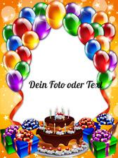 Tortenaufleger ---zum Geburtstag mit Foto---Oblaten---Geburtstag-Tortenbild