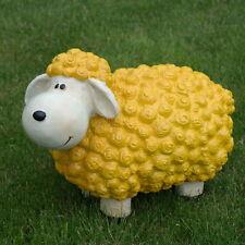 Schaf bunt Gelb Dekofigur Gartenfigur Dekoration Terrasse modern Blumenbeet
