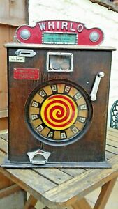 WHIRLO . wall machine vintage penny arcade allwin.