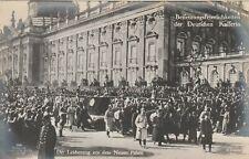 AK Beisetzung der Deutschen Kaiserin Leichenzug vor dem Neuen Palais 1921
