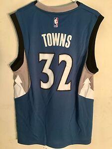 Adidas NBA Jersey Minnesota Timberwolves Karl Anthony Towns Blue sz XL