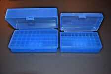AA & AAA Battery Plastic Storage box Container HOLDS 50 BATTERIES ! ( BLUE ) 413