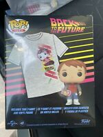 Funko Pop Back to the Future T-Shirt XL and Marty McFly with Hoverboard Walmart