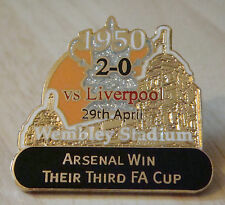ARSENAL v LIVERPOOL Victory Pins 1950 FA CUP WIN Danbury Mint badge 36mm x 35mm
