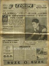 Journal l'Equipe n°3199- 1956 -Tour de France - Schmitz - Adriaenssens - Nielsen