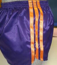 nailon Glanz Satén Shorts de Fútbol Pequeño - XXXXL AÑOS 70 & 80 retro, Lila &