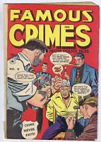 Famous Crimes #9 Superior Pub 1949 CANADIAN EDITION