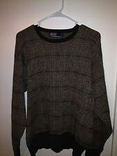 Men's POLO BY RALPH LAUREN 100% wool sweater size Large L Brown