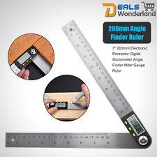 200mm Digital Electronic Angle Finder Goniometer Measuring Tool Gauge Ruler